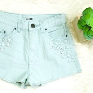 BDG High Rise Cheeky Denim Jean Shorts Mint